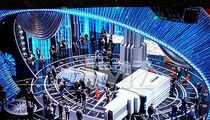 Oscars Stage Prop Crashes Down (PHOTO)