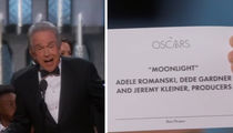 The Oscars -- 'Moonlight' Wins Best Picture, But 'La La' Gets Trophy ... In EPIC Screwup!!