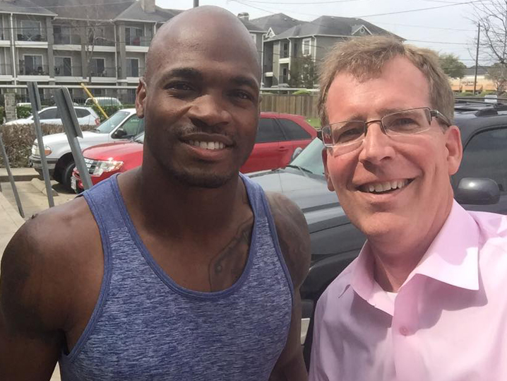 Reporter Finds Out He's Interviewing Adrian Peterson…During Interview