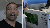 Fabricio Werdum Has A Huge TV In The Airport ... Here's Why (VIDEO)