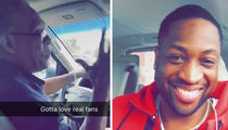 Uber Driver Freaks Out Over Dwyane Wade ... YOU ARE THE MAN! (VIDEO)