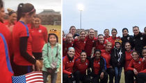 U.S. Women's Soccer Team Grants Make-A-Wish ... 9-Year-Old Leads Team Cheer! (VIDEO + PHOTO)