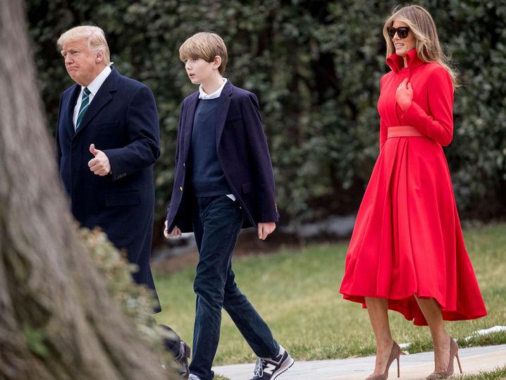 Barron Trump Finally Strolls White House Grounds   TMZ.com