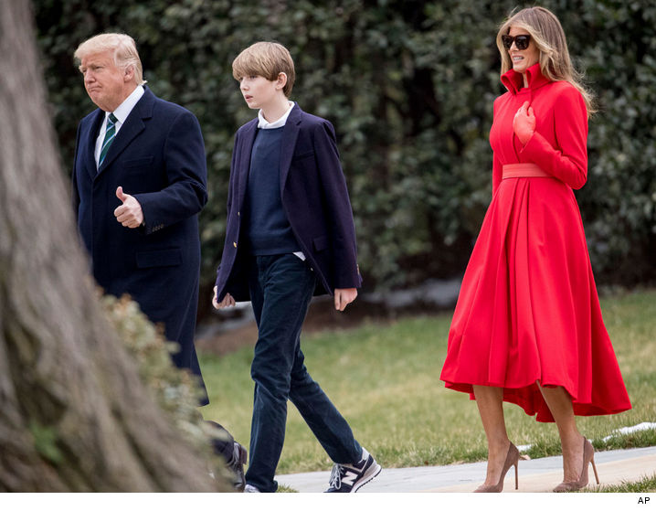 Barron Trump Finally Strolls White House Grounds | TMZ.com