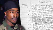 Tupac's Handwritten 'Dear Mama' Lyrics Up for Sale (DOCUMENT)