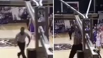 High School Basketball Ref Has INSANE DUNKS ... But I Can Do Better! (VIDEO)