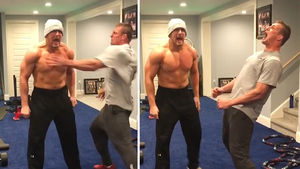 Rob Gronkowski Gives Insane Pep Talk to Mojo Rawley to Gear Up for WrestleMania