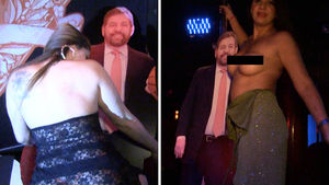 James Dolan Cardboard Cutout Gets A Lap Dance