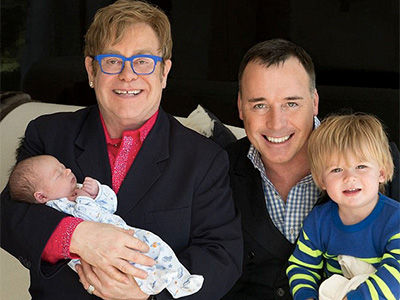Elton John and David Furnish's Rarely-Seen Boys Are Getting SO BIG! See Them Now (Photos)