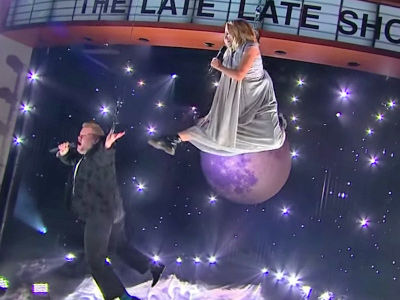 James Corden & Kristen Bell's Aerial Performance Goes Horribly Wrong -- See the Disastrous Duo!