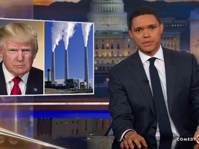 Trevor Noah BLASTS President Donal Trump for DESTROYING the Environment -- See Him Go IN!