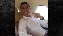 Cristiano Ronaldo's Jet Arrives at Cristiano Ronaldo Airport