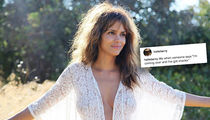 Halle Berry Posts Topless Pic, But Only for Snacks (PHOTO)