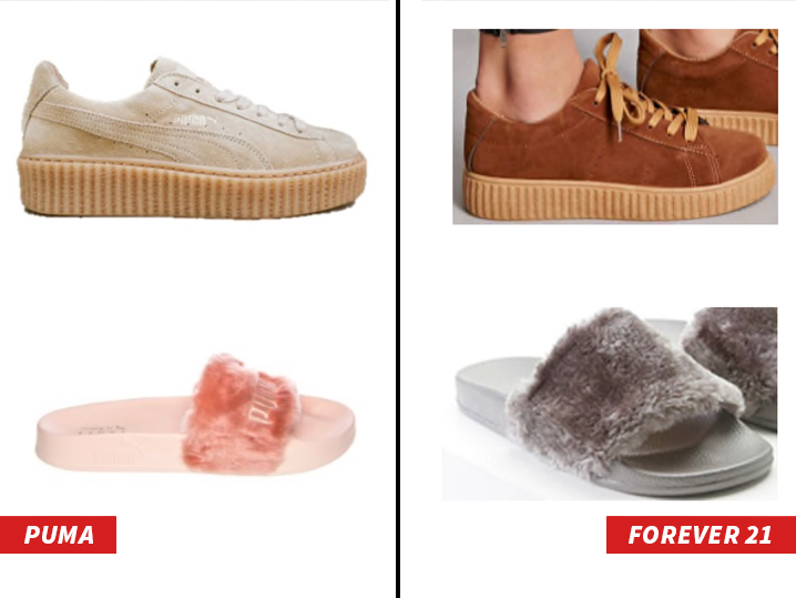 Rihanna's Latest Puma Shoes Have Already Been Ripped Off By Topshop