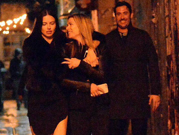 Adriana Lima and Matt Harvey Celebrating with a Hot Friend (PHOTOS)