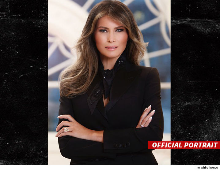 Politics - Melania's Official First Lady Portrait!!! | The ...