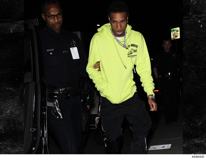 Tyga taken into police custody to avoid making a scene