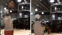 Floyd Mayweather Makes It Rain ... On The Basketball Court (VIDEO)