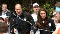 Prince William Gets Water Bottle Splash to the Face During London Marathon