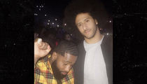 Colin Kaepernick Hits Chris Brown Concert In NYC with Boxing Star