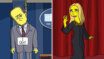 'The Simpsons' Spoofs Trump's First 100 Days (VIDEO + PHOTOS)