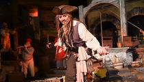 Johnny Depp Commandeers Pirates of The Caribbean Ride at Disneyland