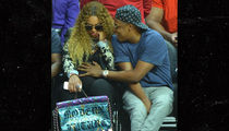 Beyonce & Jay Z Have Eyes on the Ball at Clippers Game (PHOTO)