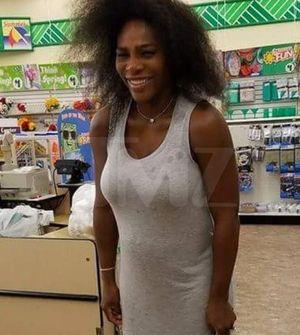 Serena Williams Flaunts Million Dollar Bump at Dollar Tree Store