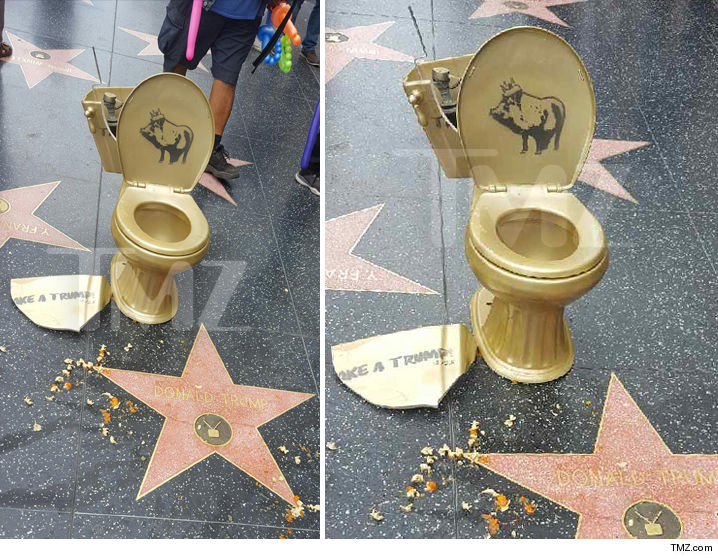 Donald Trump's Star Gets the Toilet Treatment ... Wanna 'Take a Trump?'