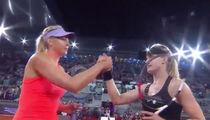 Genie Bouchard Beats Sharapova After Calling Her 'Cheater'