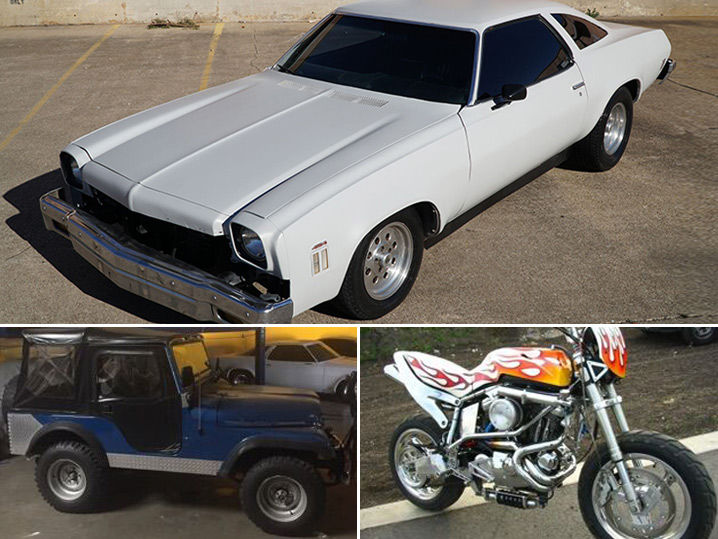 Elvis Presley's Jeep, Ryan Gosling's Chevy and Nicolas Cage's Motorcycle Hit the Auction Block (PHOTO GALLERY)