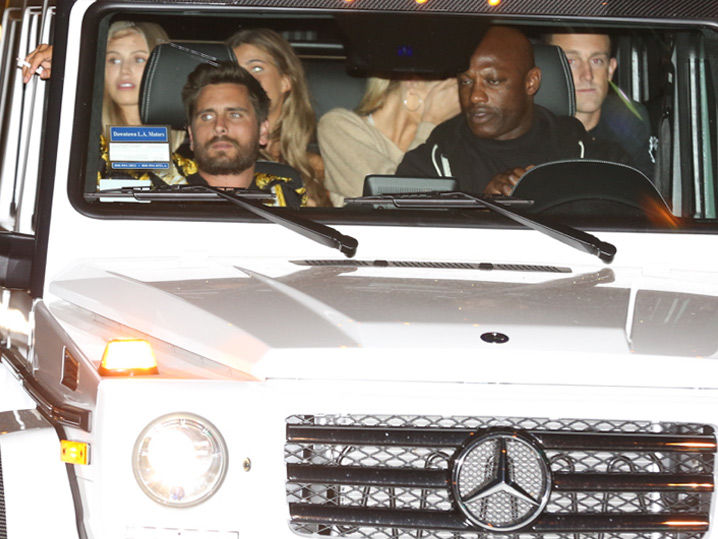 Scott Disick's Got a G-Wagon Full Of Babes!!! (PHOTO GALLERY)