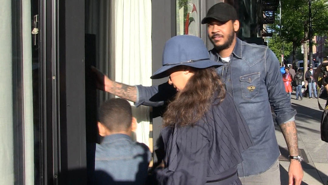 Image result for Carmelo Anthony And Lala Seen Getting Dinner Together For Mother's Day