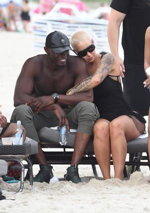 Amber Rose Spends Mother's Day in Miami with New Guy