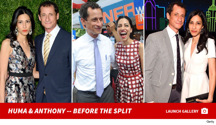 Huma Abedin Finally Kicks Anthony Weiner to the Curb