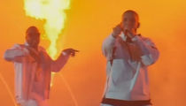 Drake Performs In Middle of Bellagio Fountain At Billboard Music Awards