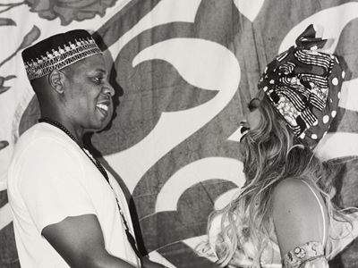 Beyonce Shares Photos from Her Push Party -- Wait'll You See Her BIG, Bare & Painted Baby Bump!