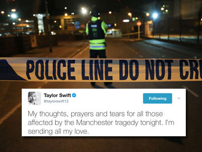 Stars React to Ariana Grande Manchester Concert Tragedy with Shock, Heartbreak and Love