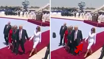 Melania Trump Slaps Away the President's Hand
