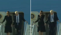 Donald and Melania Trump Arrive in Rome, Still No Hand-Holding