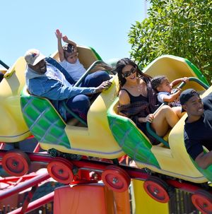 Kim Kardashian and Kanye West All Smiles with the Kiddos at Disneyland