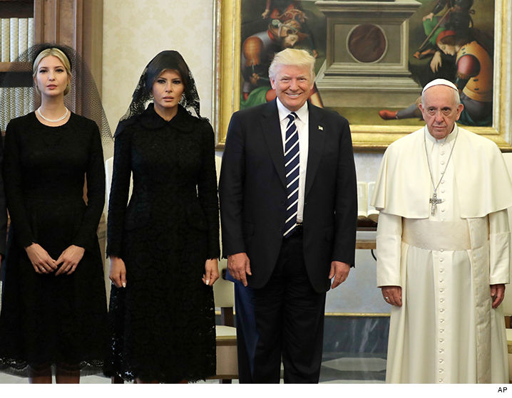 Donald Trump Meets Pope Francis, Smiley Face, Frowny Face ...