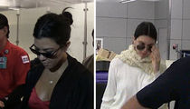 Kourtney Kardashian, Kendall Jenner Return from Cannes Mum on Scott Disick (VIDEO)
