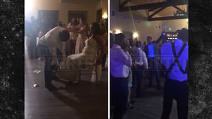 DANIEL CORMIER -- WEDDINGTOSSES WIFE'S GARTER ... Rockhold Gets the Prize!
