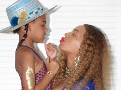 Yep, Beyonce Is STILL Pregnant -- And Wait'll You See Her Big Bump In a Blue BIKINI!