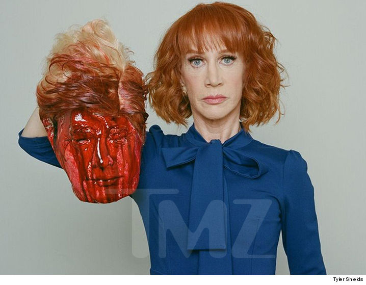 Trump condemns comedian's photo with fake severed head