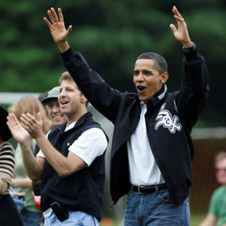 President Obama at Sasha and Malia's Soccer Game