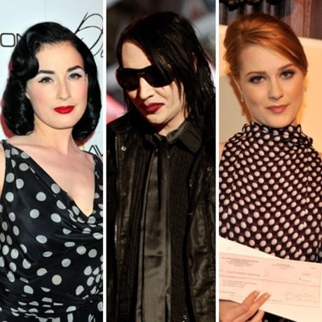 Dita Von Teese & Marilyn Manson & Evan Rachel Wood