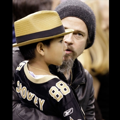Brad Pitt at the New Orleans Saints Game