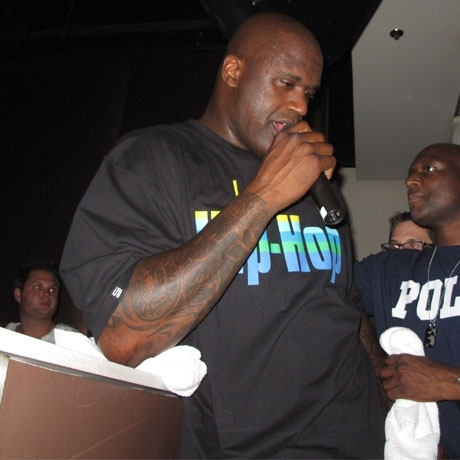 Shaq Sweats in Vegas